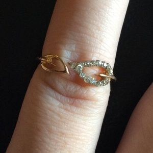Jewelry - Beautiful Gold Filled CZ Leaf Ring